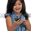 Little Girl Using Cell Phone