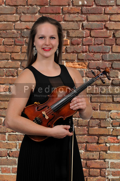 Woman Holding Violin