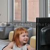 Little Girl Using Computer