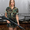 Woman Soldier with rifle