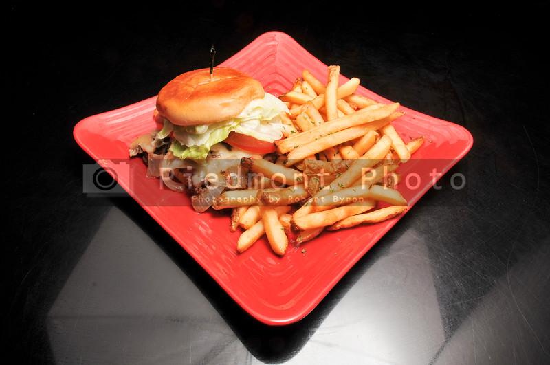 Mushroom and Swiss Cheese Burger
