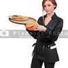 Woman server or waitress