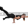 Woman Doing One Handed Pushups