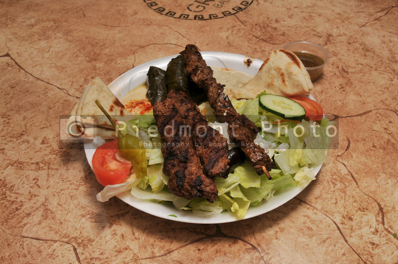 Delicious Fresh Lamb and Steak with Salad