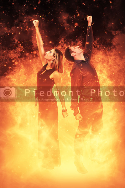 Man and Woman on Fire