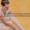 Woman ballerina with pointe shoes