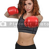 Beautiful woman boxer
