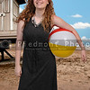 Woman Holding Beach Ball