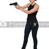 Female Detective with gun