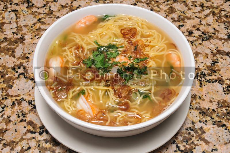 Wonton Soup with Shrimp