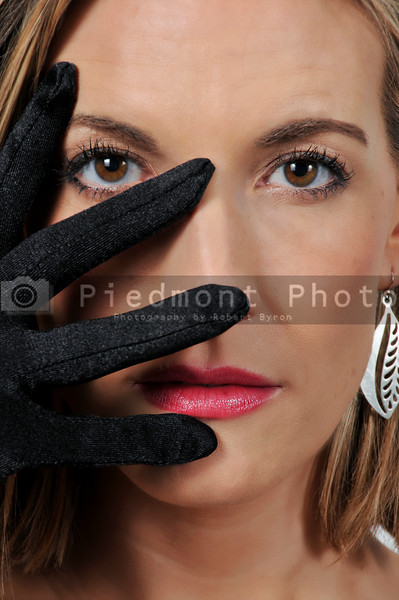 Beautiful Woman with glove