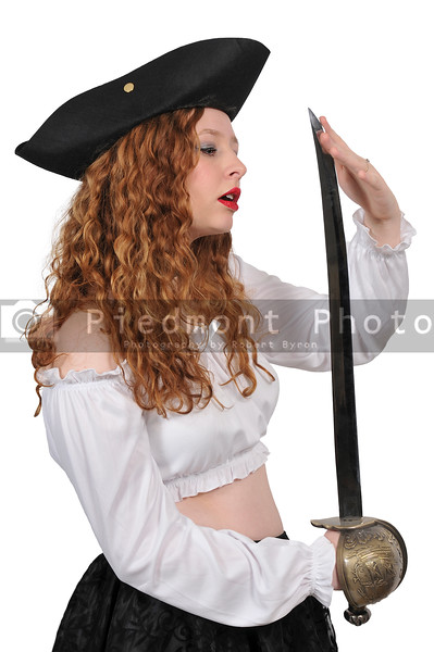 Beautiful Woman Pirate with a Sword