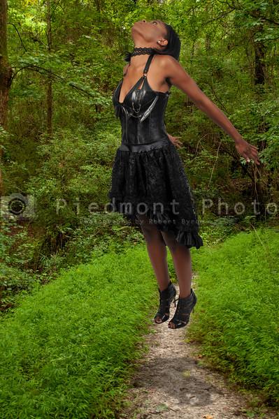 Floating black woman