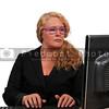 Woman on desktop computer
