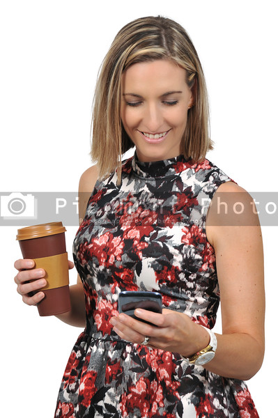 Woman on the Phone with Coffee