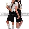 Women servers or waitresses