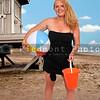 Woman Holding Beach Ball