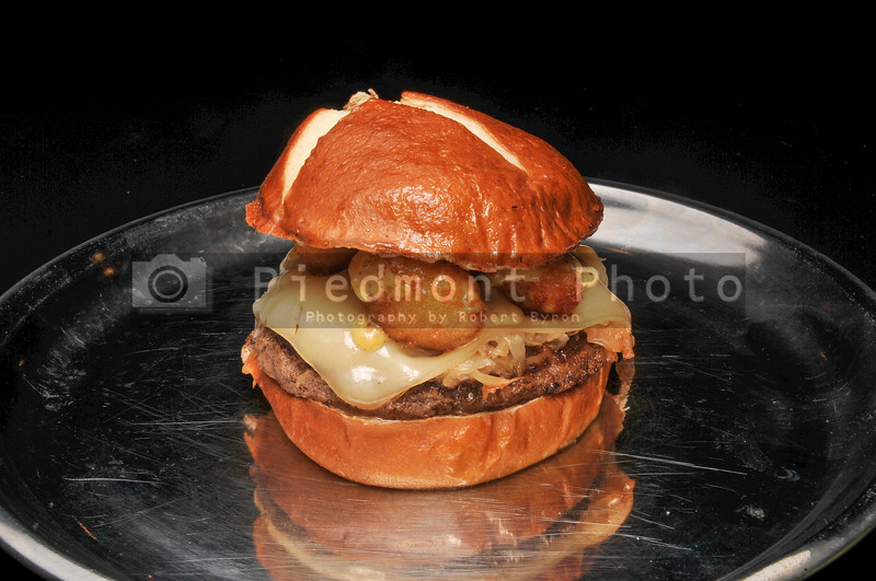 American Tater Tot Cheeseburger on a Bun