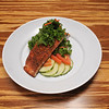 Vegetarian Kale Salad with Salmon