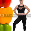 Woman and Bell Peppers