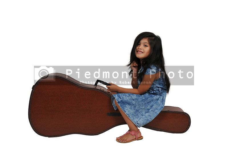 Girl with Guitar Case