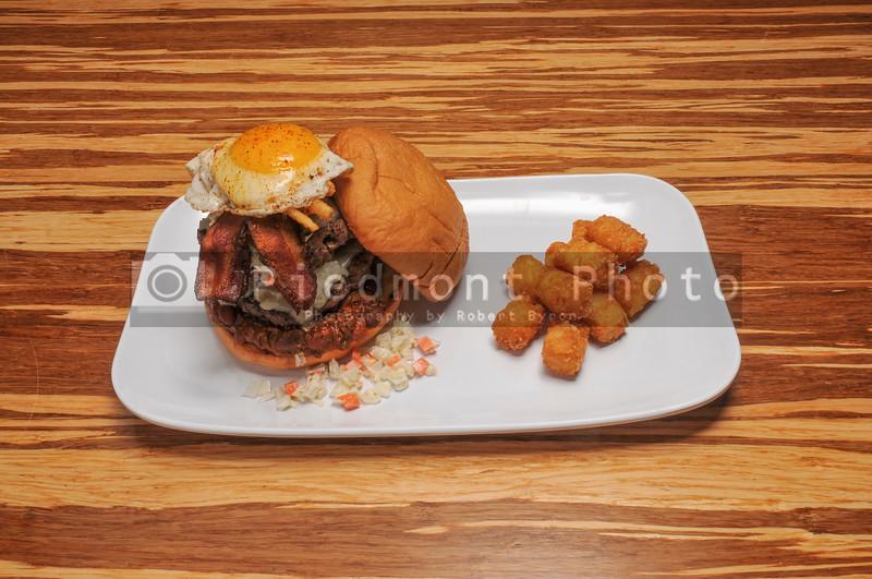 Bacon and Egg  Cheeseburger on a Bun