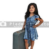 Little Girl Vacation with a suitcase