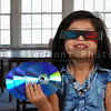 Little girl Watching 3D Movie