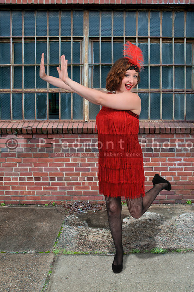Woman flapper girl