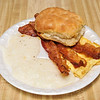 Eggs Bacon Grits and a Biscuit
