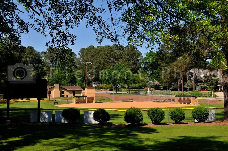 A baseball field at a community park