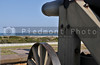 A Civil War Cannon pointed out to sea