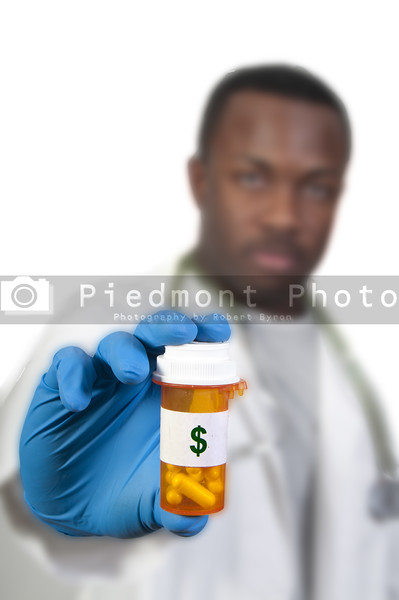 A prescription medicine pill bottle representing the high cost of healthcare