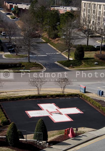 A Hospital Helipad outside of a medical trauma caenter
