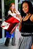 Beautiful young women on a shopping spree