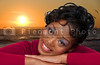 A very beautiful African American black woman with a big smile