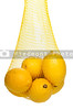 A bag full of bright yellow lemons