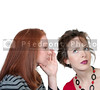 A young beautiful woman whispering a secret to someone else
