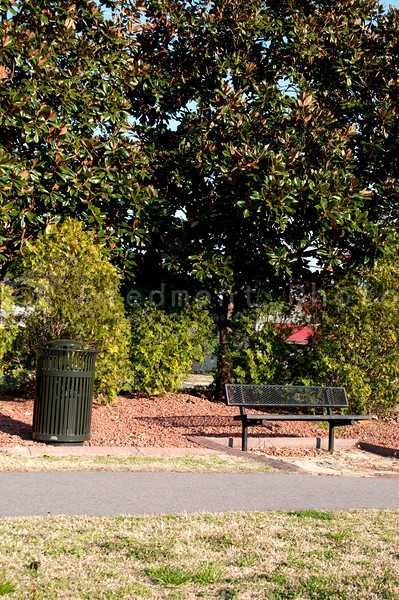 A Park Bench in an outdoor setting.