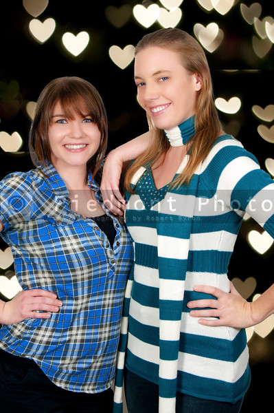 A couple of beautiful young women who are the best of friends