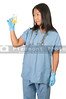 A beautiful young Asian woman doctor in scrubs holding a urine sample