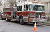 A Firetruck at the scene of an emergency