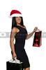 A beautiful woman on a Christmas shopping spree
