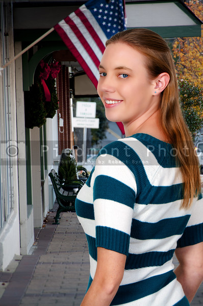 A beautiful young woman on a shopping spree trip