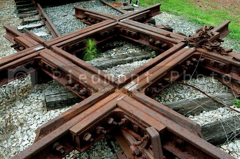 A section of Railroad Train Intersection Track
