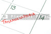 A calendar entry on Friday the 13th for Triskaidekaphobia