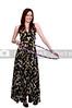 A beautiful woman using the ever popular hula hoop