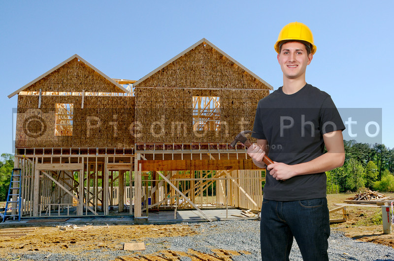 A man Construction Worker on a job site.