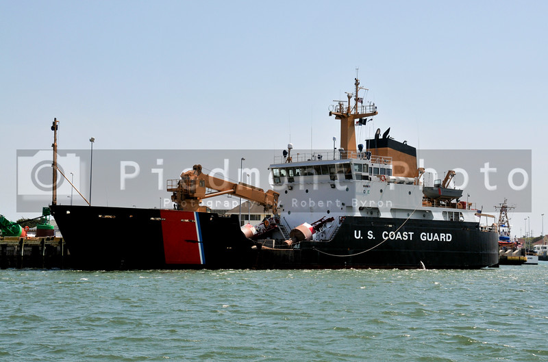 A US Coast Guard Buoy Tender in port