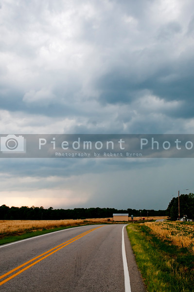 An approaching storm showing a down draft